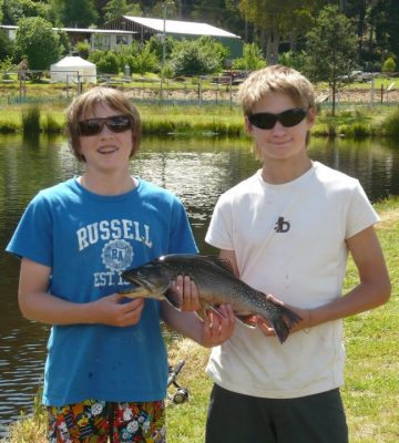 Fishing at Mountain Stream Fishery - Tasmania